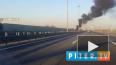 Видео: на КАДе загорелся автобус