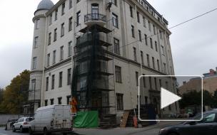 Жители дома Шульгина пожаловались на нарисованную плитку на фасаде