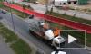 Видео: на Муринской улице столкнулись два КамАЗа