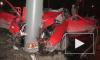 На Пискаревском пр. иномарка врезалась в столб: погиб пассажир