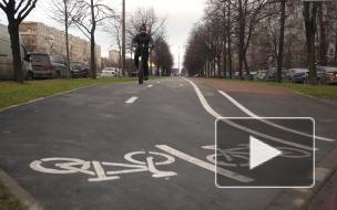"""На Бухарестской улице появилась """"европейская"""" велодорожка"""
