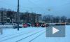 На Науки столкнулись трамвай и маршрутка: пострадали два человека