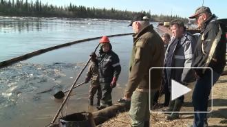 """В Ненецком АО произошла утечка нефти из трубопровода """"Лукойл"""""""