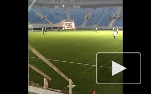 Первый матч на «Зенит-Арене» завершился победой команды cубподрядчиков