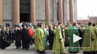 В Вербное воскресенье на Исаакиевской площади состоялся детский крестный ход