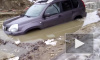 В одной из луж Петербурга утонул Nissan X-Trail