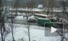 Появились фото: Свадебный кортеж протаранил автобус на Дороге жизни в Санкт-Петербурге