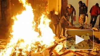 События на Украине сегодня: неизвестные подожгли здание Компартии в Киеве