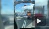 Массовое ДТП на Большеохтинском мосту спровоцировало пробку