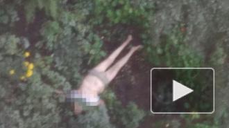 На Маршала Жукова из окна выпала женщина в нижнем белье