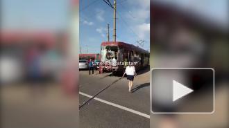 В Казани при столкновении трамваев пострадали четыре человека