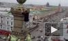 Появилось видео вылазки руфера на крышу Елисеевского магазина