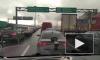 Видео: на юге КАД образовалась пробка