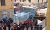 ККИ демонтирует торговые палатки на Апраксином дворе