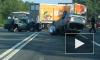 """ДТП на Московском шоссе: """"Калина"""" от сильного удара перевернулась на крышу, собралась большая пробка"""