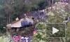 Видео с места крушения самолета с туристами в Непале