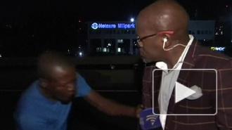 Африканского тележурналиста ограбили в прямом эфире