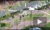 """Видео: водитель каршеринга """"заблудился"""" на пешеходном бульваре в Мурино"""