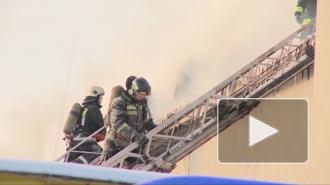 Ночью на улице Куйбышева производственное здание тушили шесть пожарных расчетов