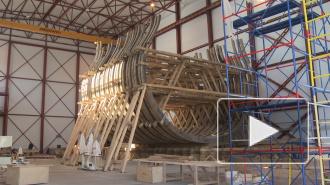 В Петербурге строят корабль Петра Великого