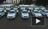 Сотрудники ГИБДД составили юбилейную цифру 75 из служебных автомобилей