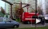 Рухнувшими лесами заблокированы подъезды дома в Зеленограде