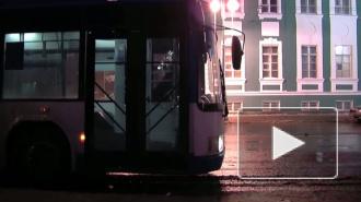 Троллейбусная пробка на Дворцовом мосту. Из-за обрыва линии уже скопилось 15 троллейбусов