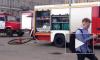 """Станция метро """"Сенная площадь"""" закрыта на вход, рядом дежурят пожарные и полиция"""