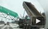 Видео огромной пробки из-за рухнувшей конструкции на Новорижском шоссе