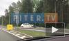 Видео: на Приморском шоссе Opel снес столб