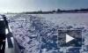 """В среду на лед Невы вышло судно """"Невская застава"""""""