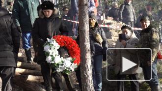 На острове Клёст прошла торжественно-траурная церемония открытия мемориала