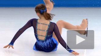 Юлия Липницкая упала в короткой программе, уступив безупречной Аделине Сотниковой