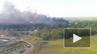 Последние новости Украины: под Шахтерском горит украинская бронетехника