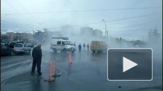 """В Петербурге снова бьют """"гейзеры"""" с кипятком"""