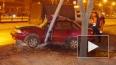 На Софийской Daewoo влетела в столб, водителя пришлось ...