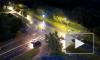 Появилось видео шального ночного перевертыша в Красном селе