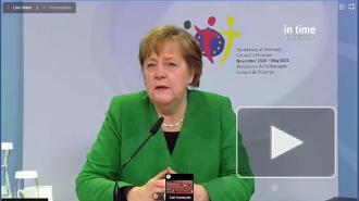 """Меркель назвала """"более чем тревожной"""" ситуацию в Белоруссии, на востоке Украины и в Крыму"""
