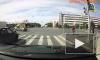 Видео: водитель не успел проскочить сквозь поток машин на Бухарестской