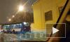 НаКондратьевскомпроспекте образовалась пробка из троллейбусов