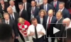 Видео из раздевалки сборной Франции: Макрон зажигательно поздравил футболистов в присутствии Путина и Грабар-Китарович