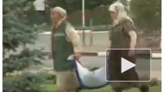 В столице Чечни российский флаг назначили мешком для мусора
