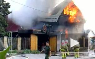 В Краснодаре горит детский дом при местном храме