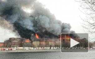 В пожаре на Октябрьской набережной погиб человек и пострадали двое спасателей
