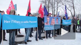 Авиадиспетчеры вышли на митинг в Пулковском парке
