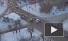 Появилось видео аварии в Красноярске, спровоцированной расторопным пешеходом