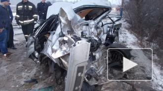 В Нижегородской области при столкновении легковушки и автобуса пострадало 11 человек, двое погибло(фото)