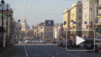 В Петербурге не ходили троллейбусы по Невскому проспекту, людям пришлось идти пешком