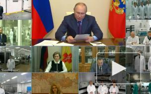 Путин назвал число привитых откоронавируса россиян