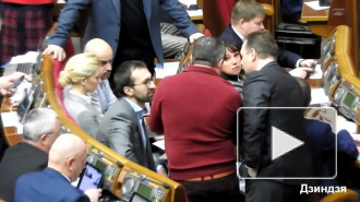 Жесткая драка украинских депутатов